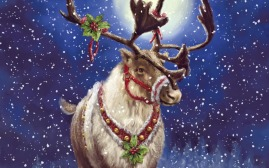 happy-merry-christmas-raindeer-art-painting-image-wallpaper