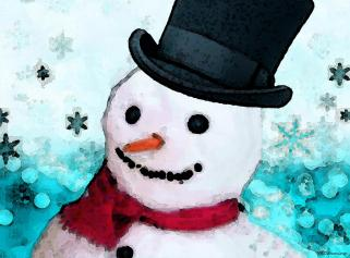 snowman-christmas-art-frosty-sharon-cummings